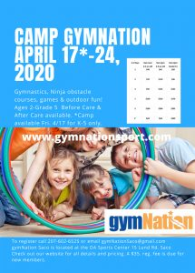 Camp gymNation Saco 2020 @ gymNation Saco | Saco | Maine | United States