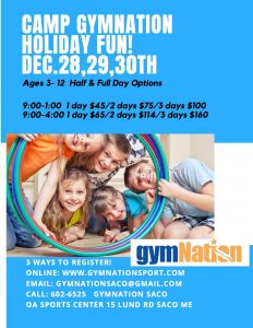 Saco Holiday Camp @ gymNation Saco | Saco | Maine | United States