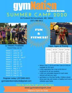 Summer Camp Kennebunk 2020 @ gymNation Kennebunk | Kennebunk | Maine | United States