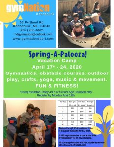 Spring-A-Palooza Vacation Camp @ gymNation Kennebunk | Kennebunk | Maine | United States