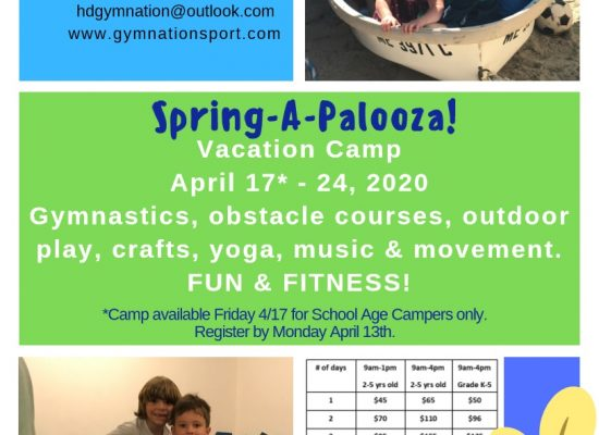 Spring-A-Palooza Vacation Camp